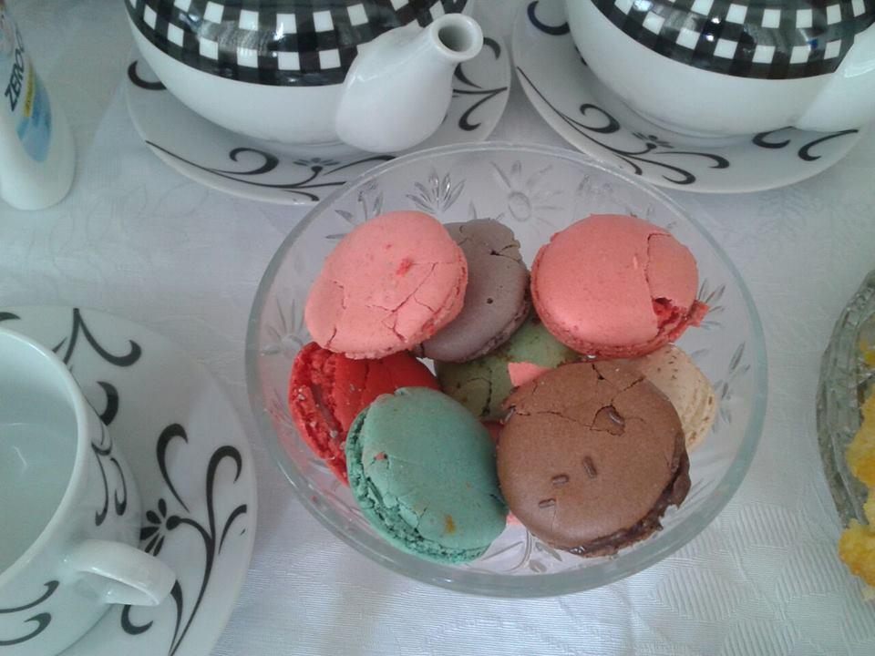 Macarons coloridos dando um toque especial