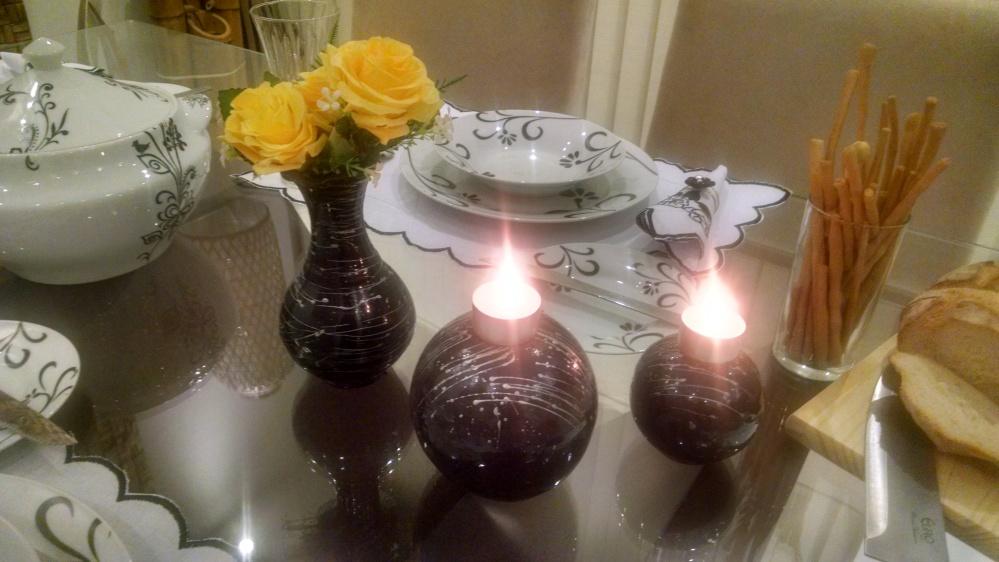 arranjo com velas