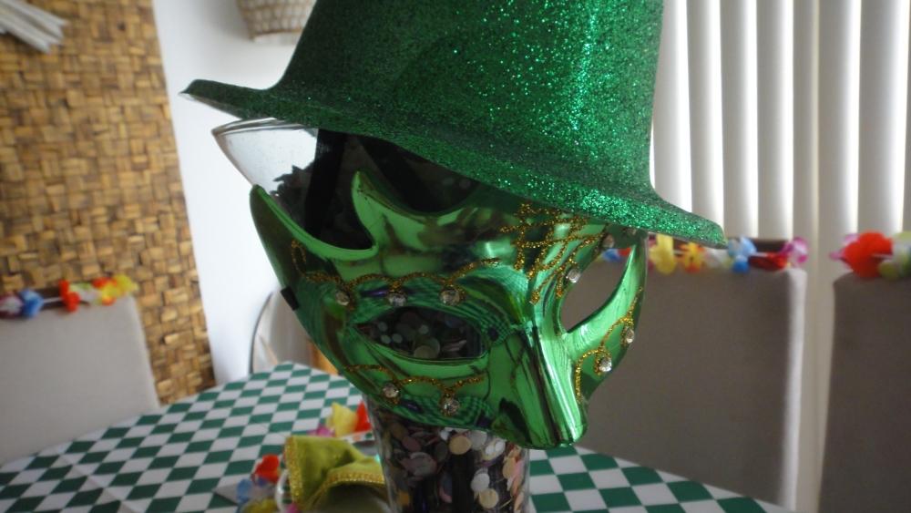 máscara verde
