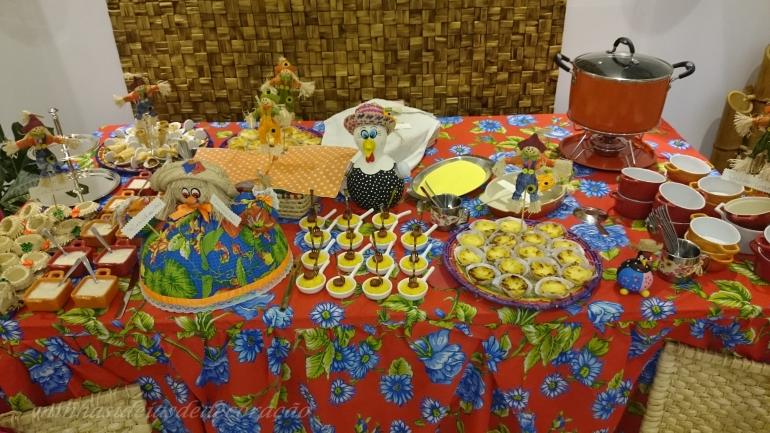 mesa das comidas