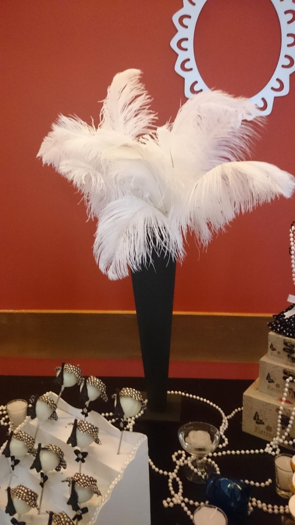 plumas brancas