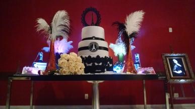 bolo paris preto e branco