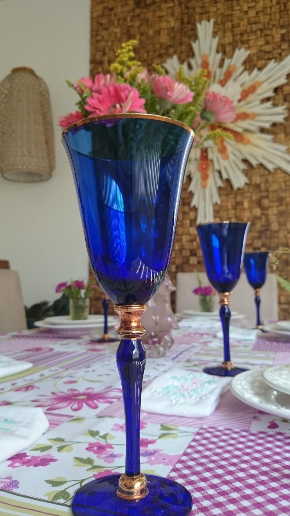 taças azuis