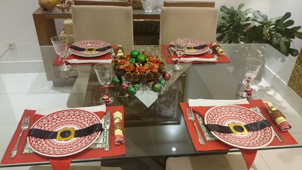 mesa de natal criativa e barata