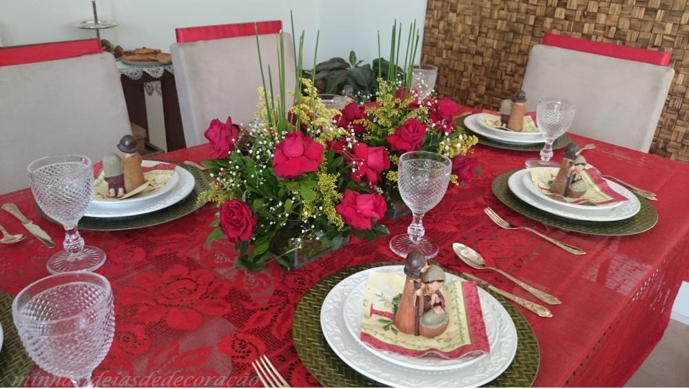 mesa de nascimento vermelha