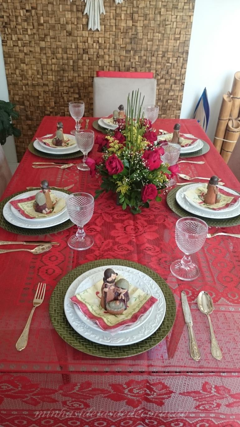 mesa fibra de coco vermelha